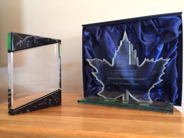 Photo of the two awards received at the Picture This Film Festival.